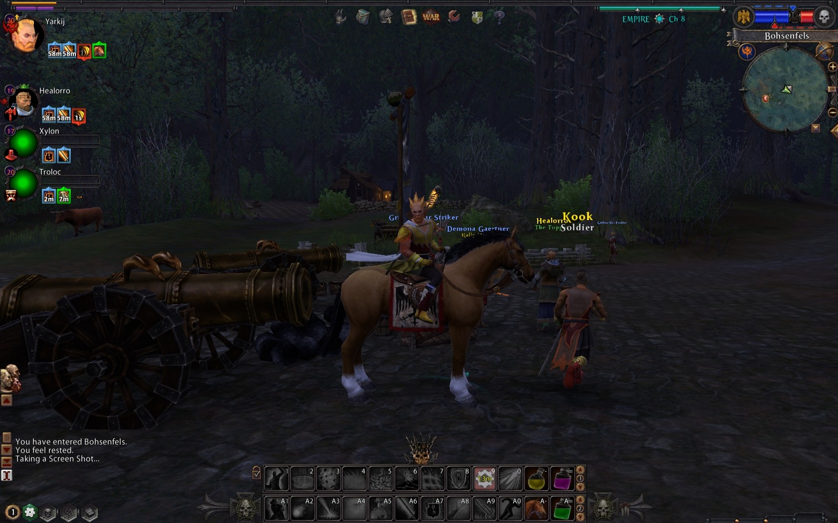 Warhammer Online: Age of Reckoning - Empire Mount, really dull, just a horse with a cannon, to make it more interesting?!