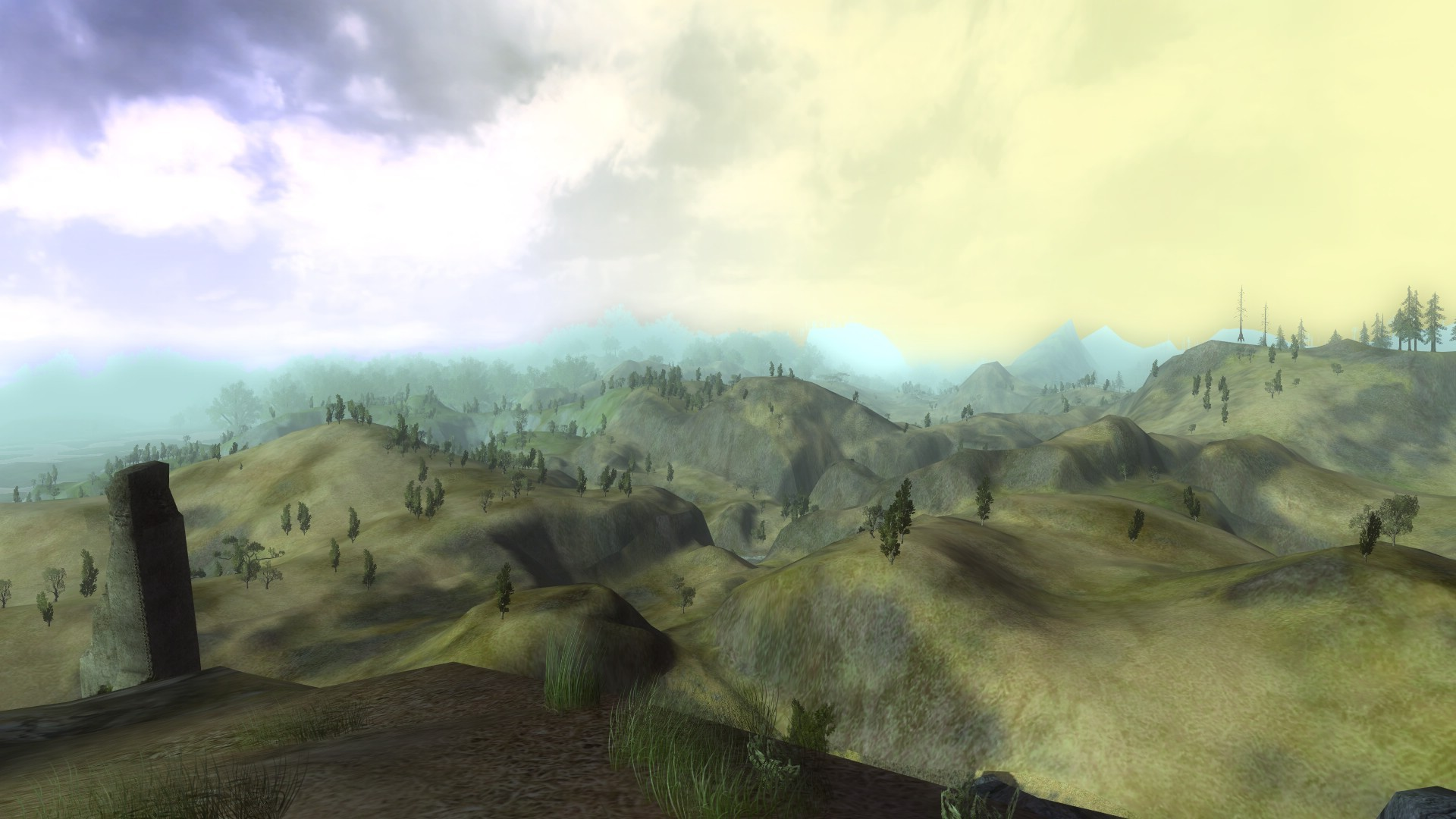 Lord of the Rings Online - Trying to see the end of the world :P