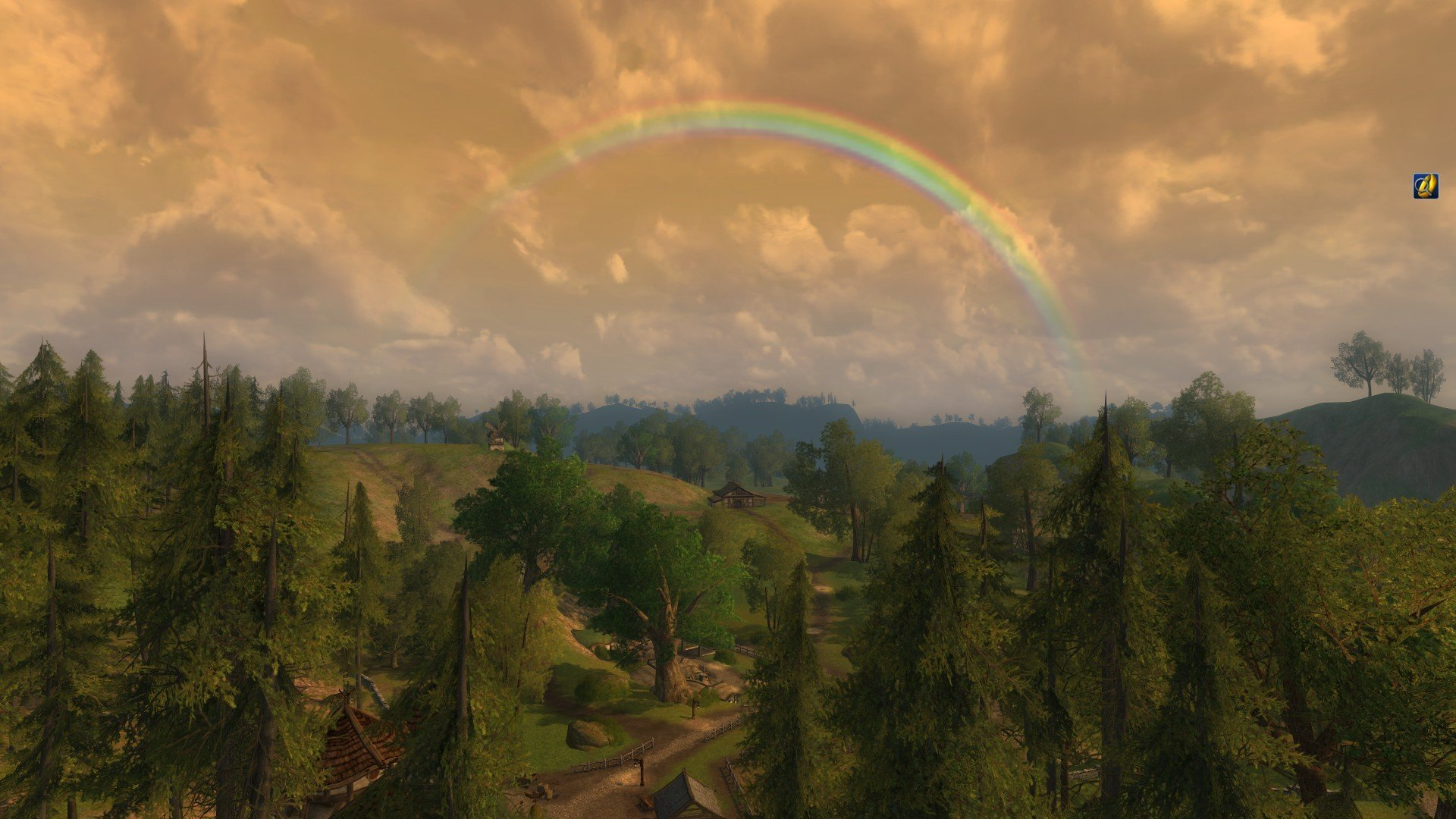 Lord of the Rings Online - Rainbow over Oatbarton