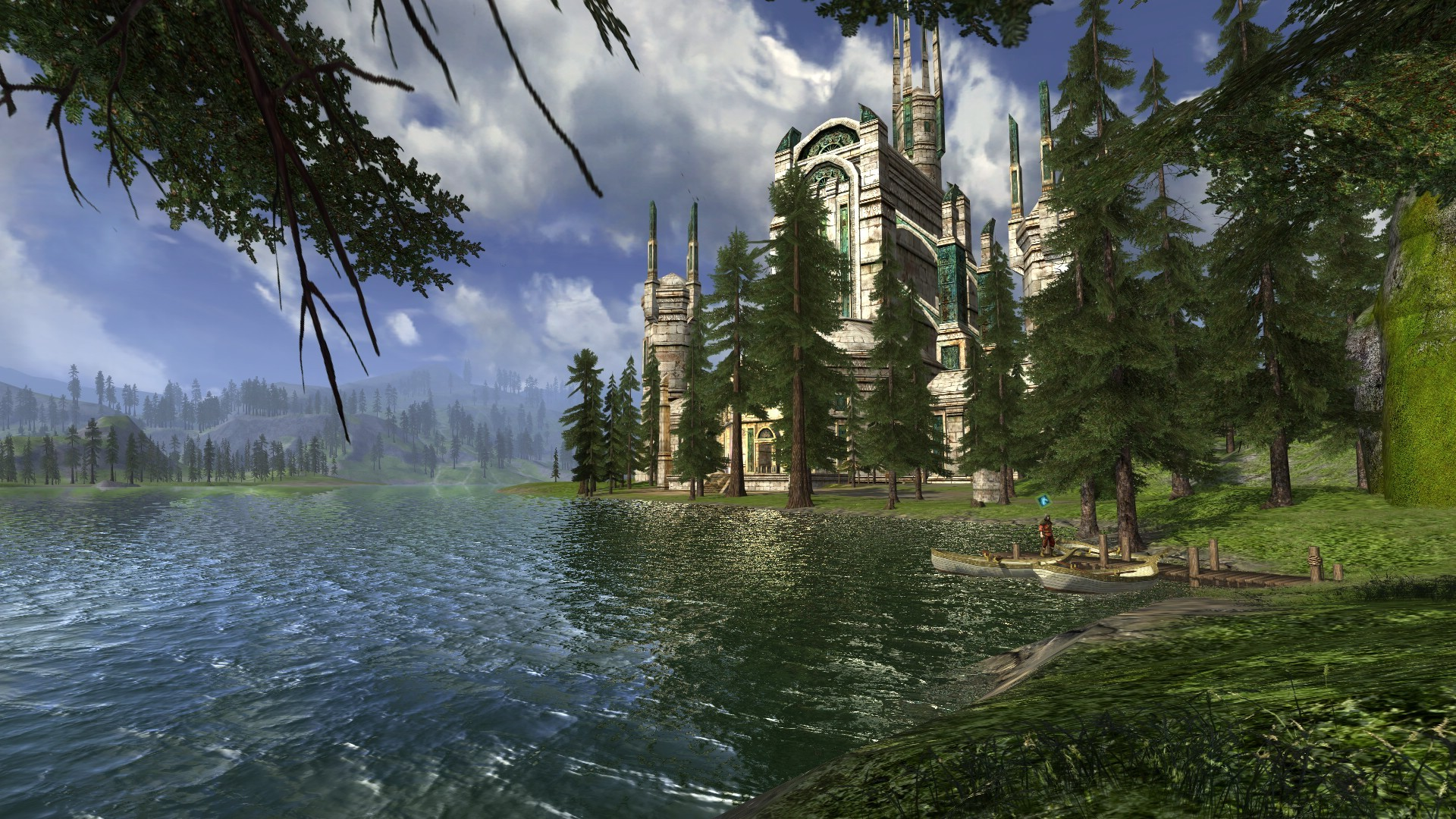 Lord of the Rings Online - Evendim view at lake