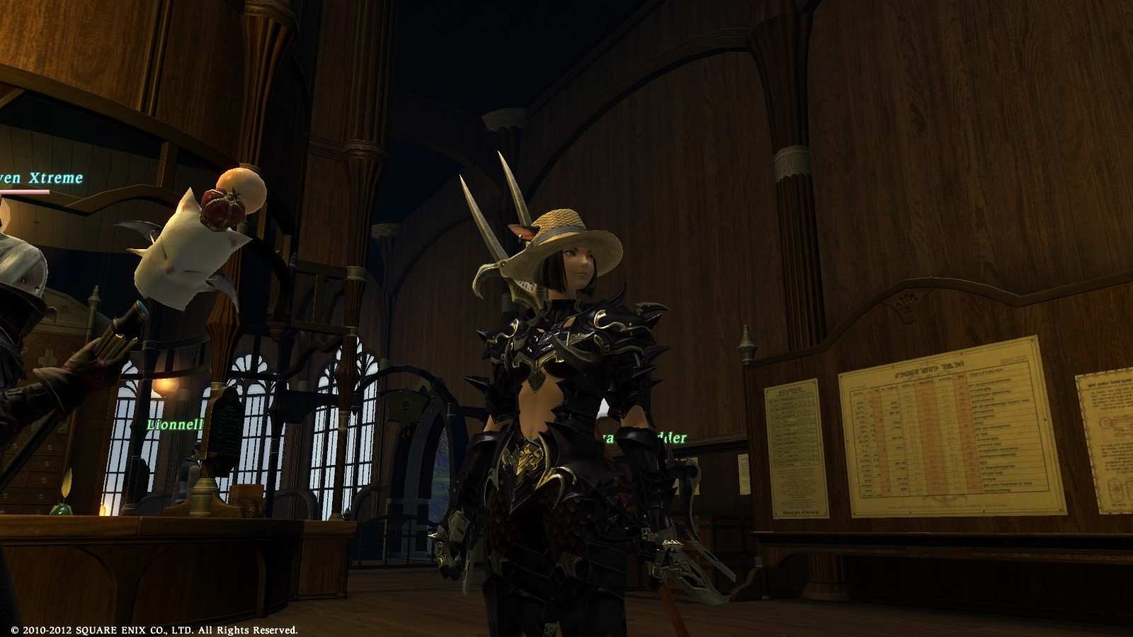 Final Fantasy XIV: A Realm Reborn - Love this hat. And check out the moogle on a stick.
