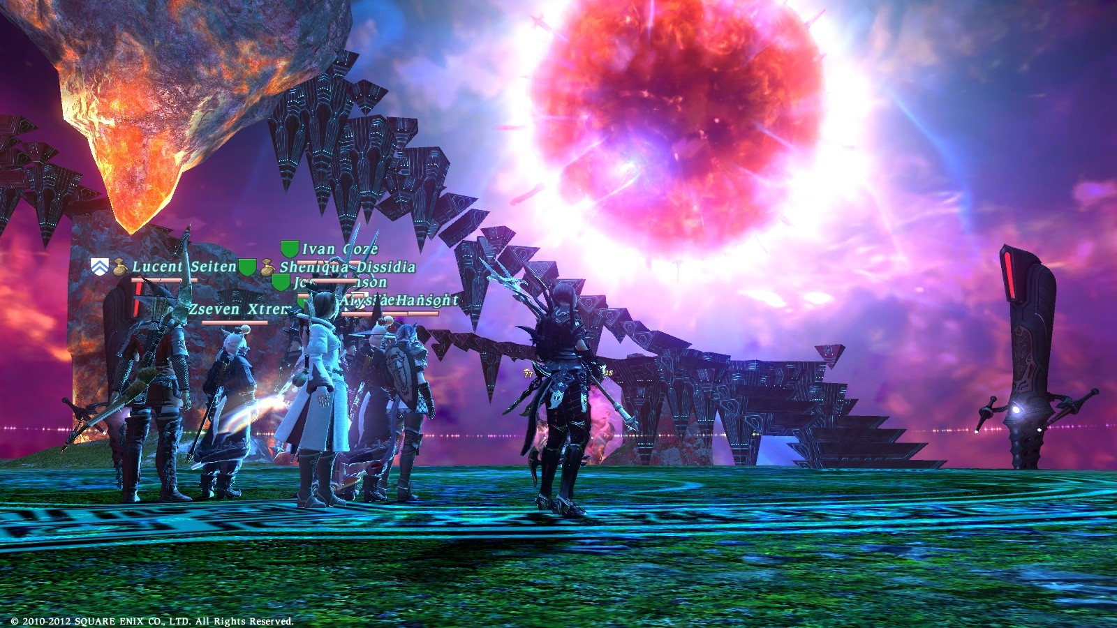 Final Fantasy XIV: A Realm Reborn - Beginning of second stage of Van Darnus fight in FFXIV. Very fun battle.
