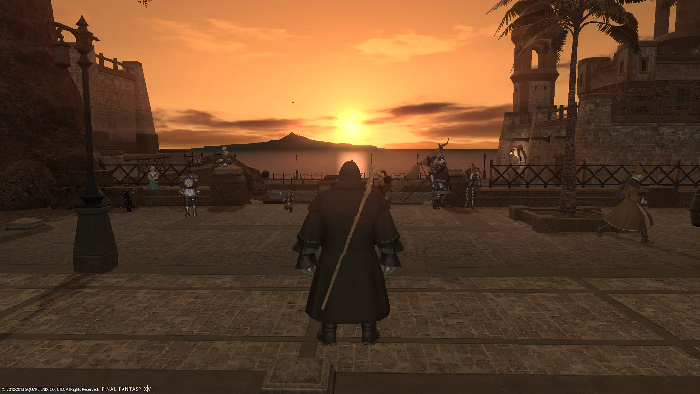 Final Fantasy XIV: A Realm Reborn - Sunset in Vesper Bay...simply beautiful
