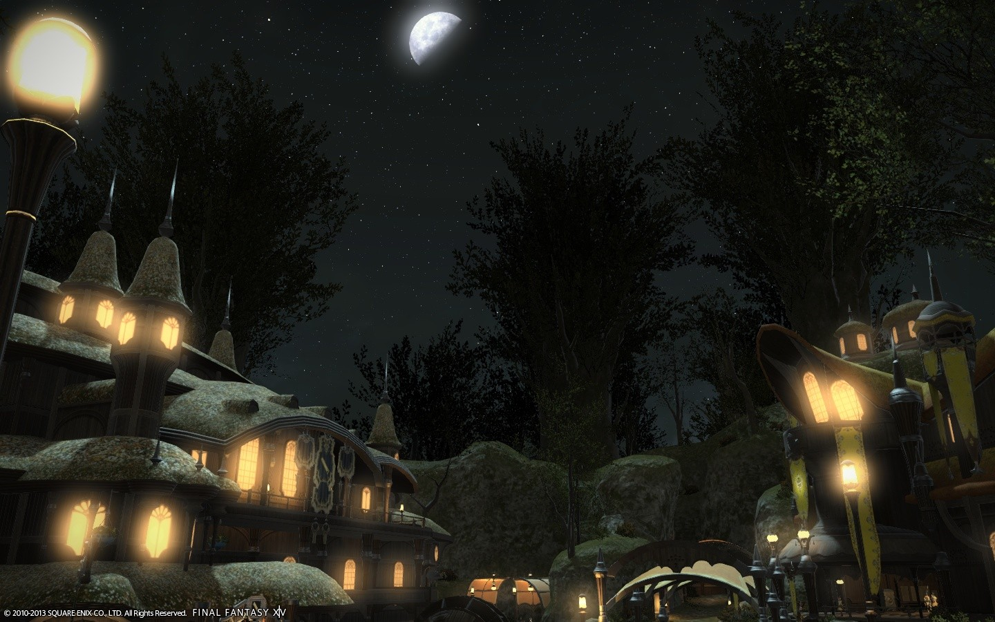 Final Fantasy XIV: A Realm Reborn - City at Night