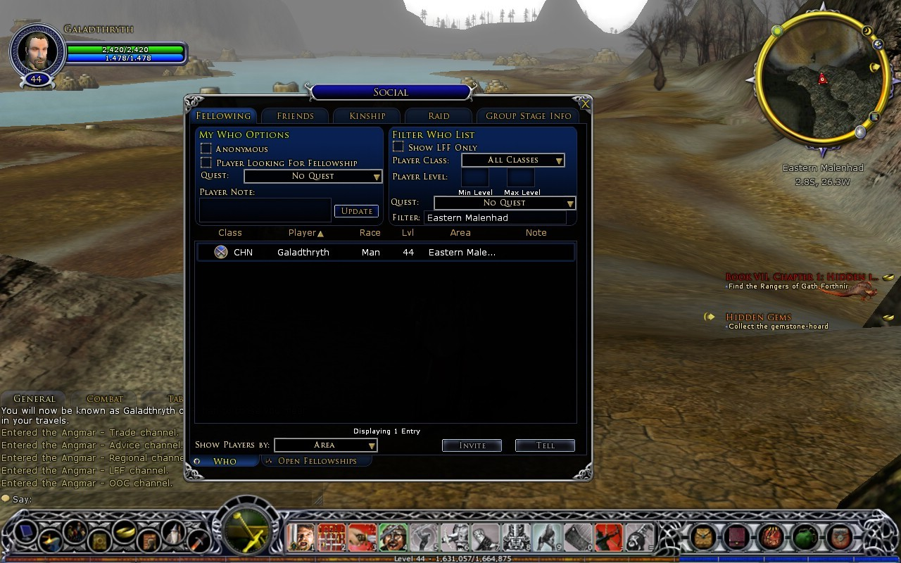 Lord of the Rings Online - LOTRO, the single player MMORPG. Where there's never anyone else around.