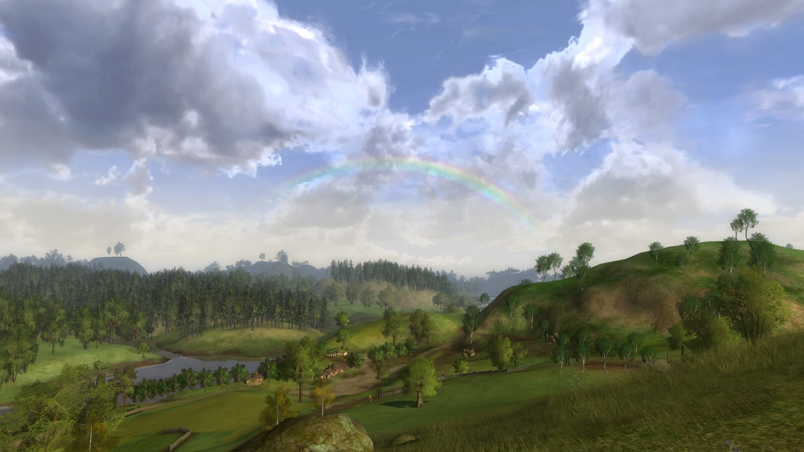 Lord of the Rings Online - Rainbow above the Shire