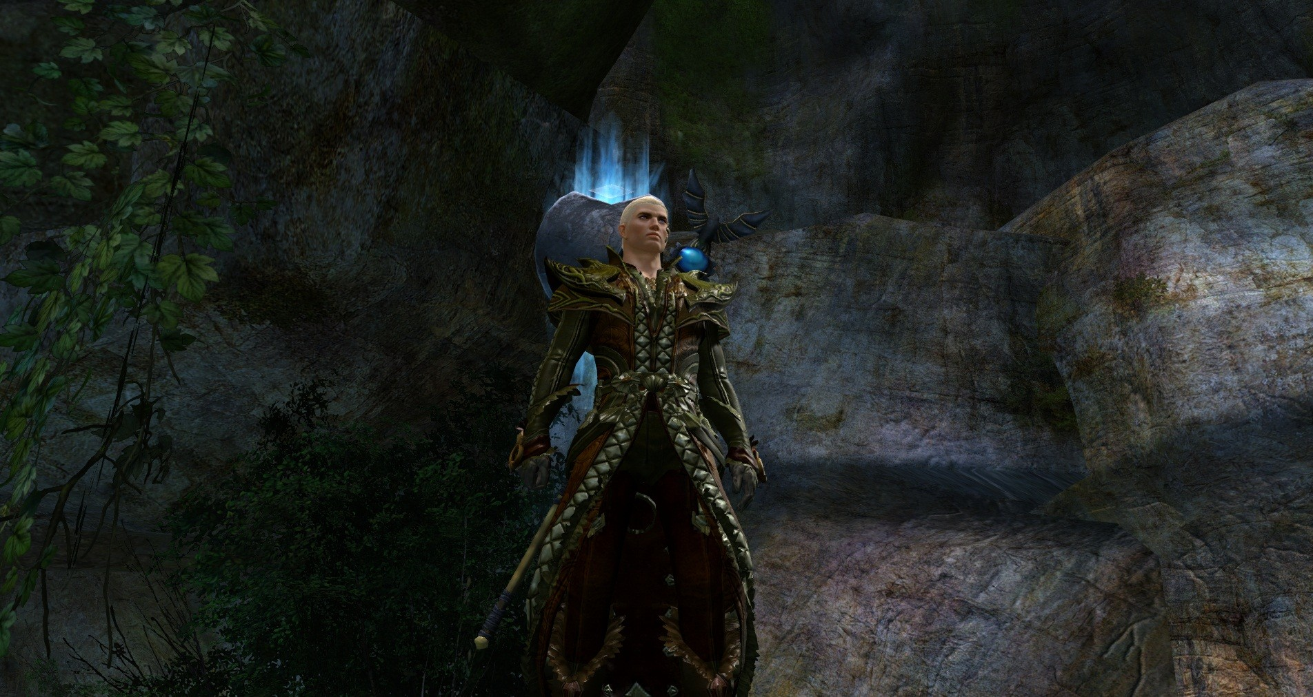 Guild Wars 2 - Grind? What grind? Full level 80 exotic Armor and Staff (some skins transmuted). No cash shop used, no exploits, no farming. 2 days to make.