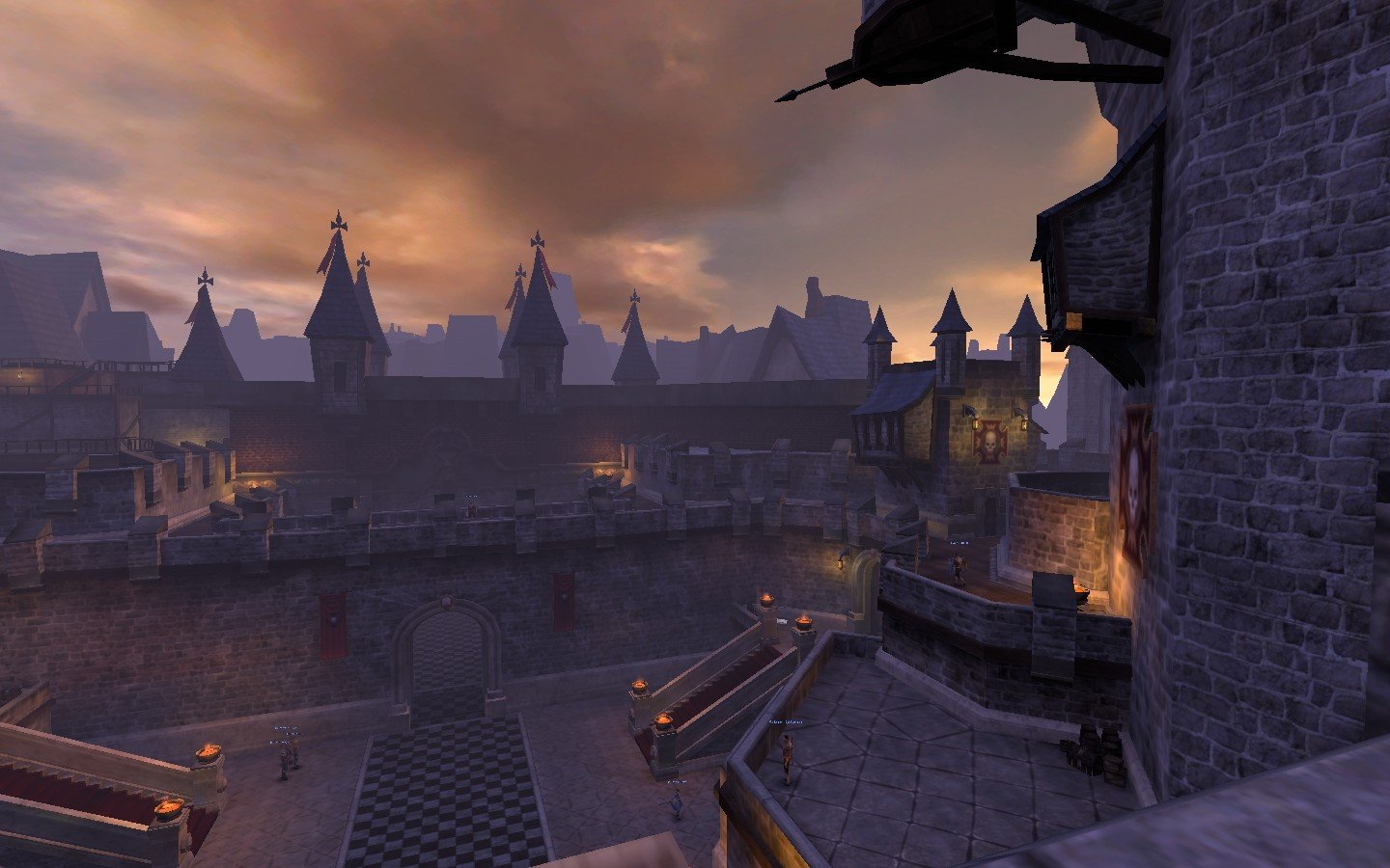 Warhammer Online: Age of Reckoning - The view from the top of the stairs of the Imperial palace in Altdorf