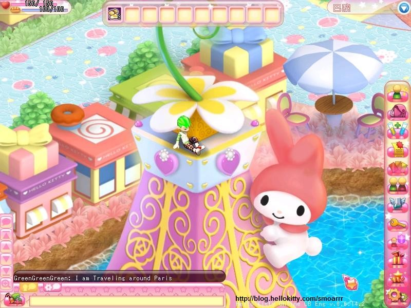 Hello Kitty Online - Is that My Melody climbing up the Eiffel Tower?