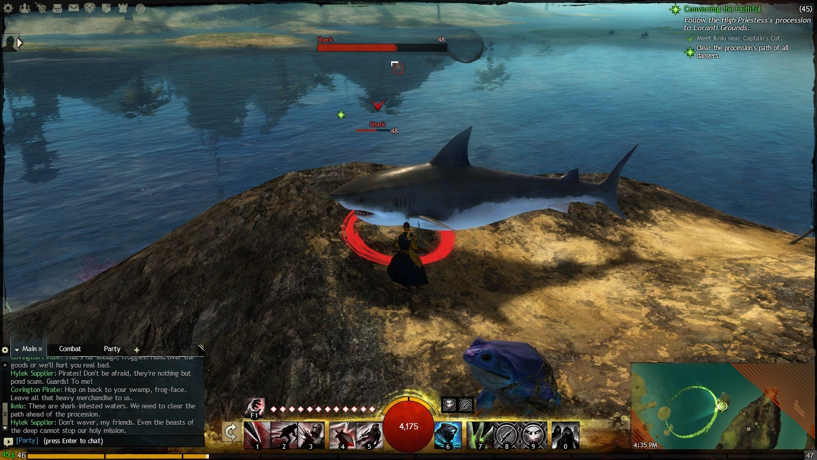 Guild Wars 2 - Just chilling with my buddy