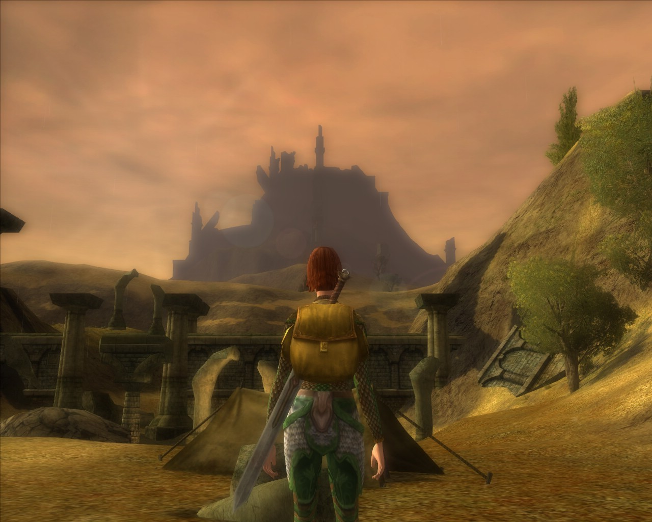 Lord of the Rings Online - A Half-Orc Camp near Weathertop.