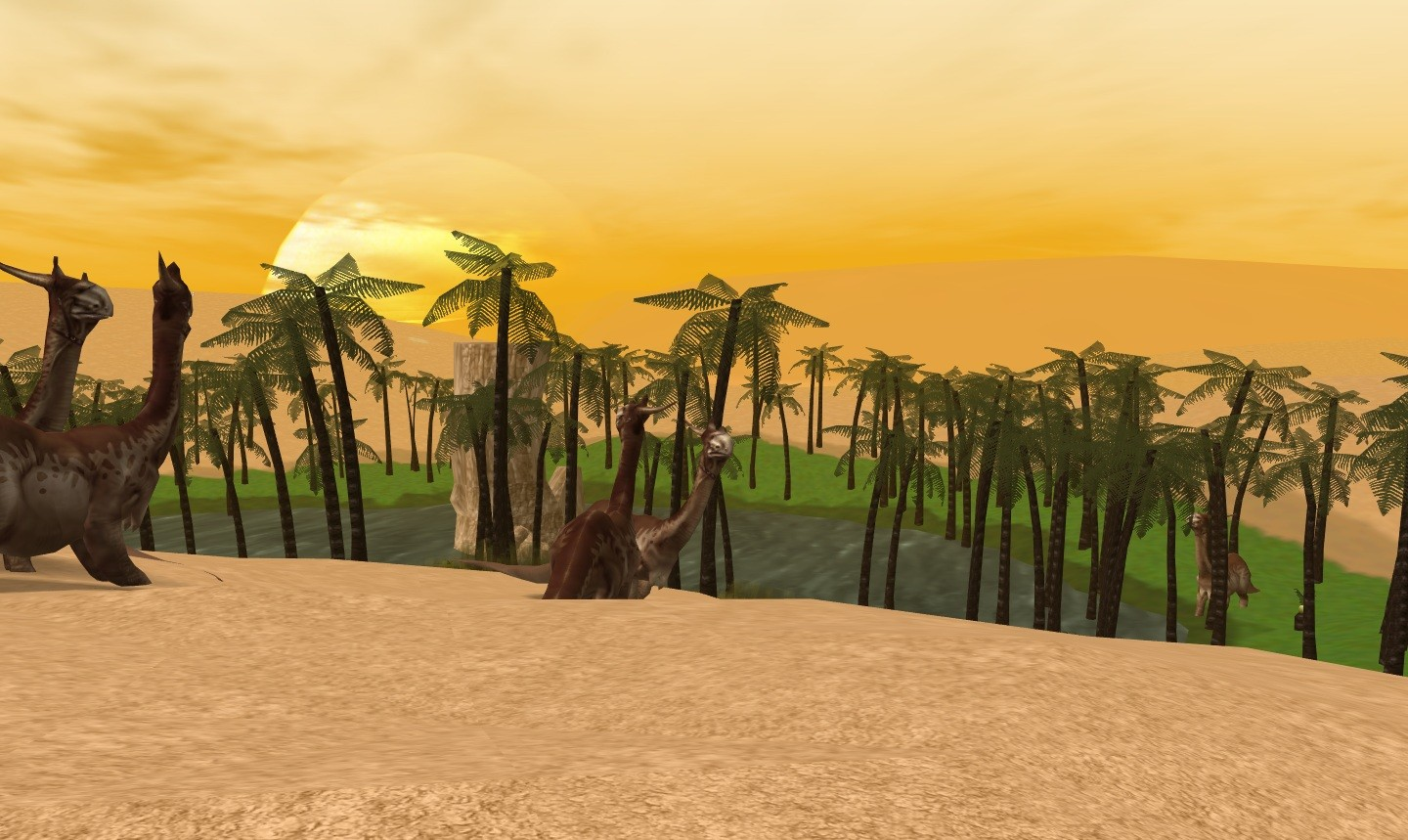 Anarchy Online - Brontos at the Oasis