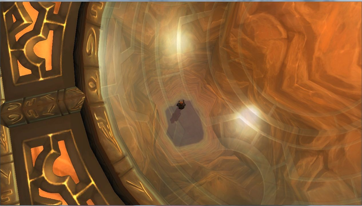 World of Warcraft - lookin down in the center bottom level in chamber of the sun
