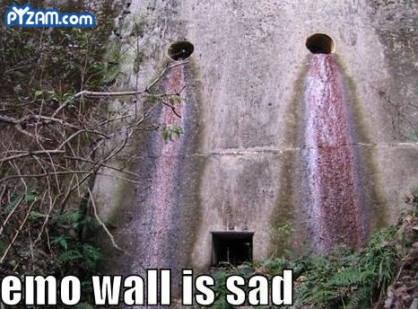 Emo wall making a crying