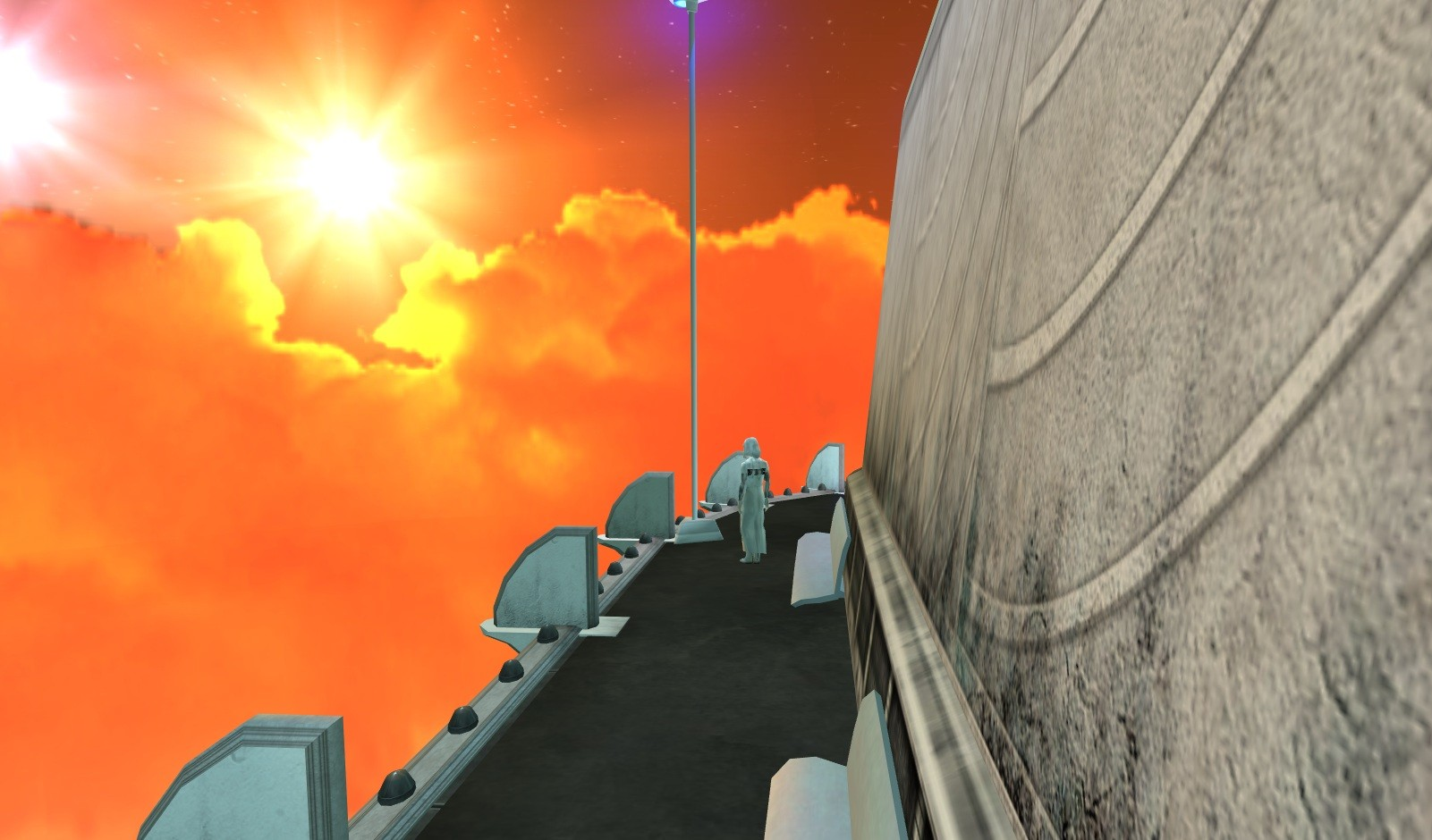 Anarchy Online - Sunset over Juliet's Balcony