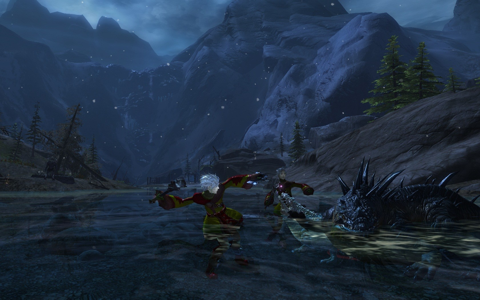 Guild Wars 2 - Timberline Falls... I'm so in love with mountainous/taiga landscapes..