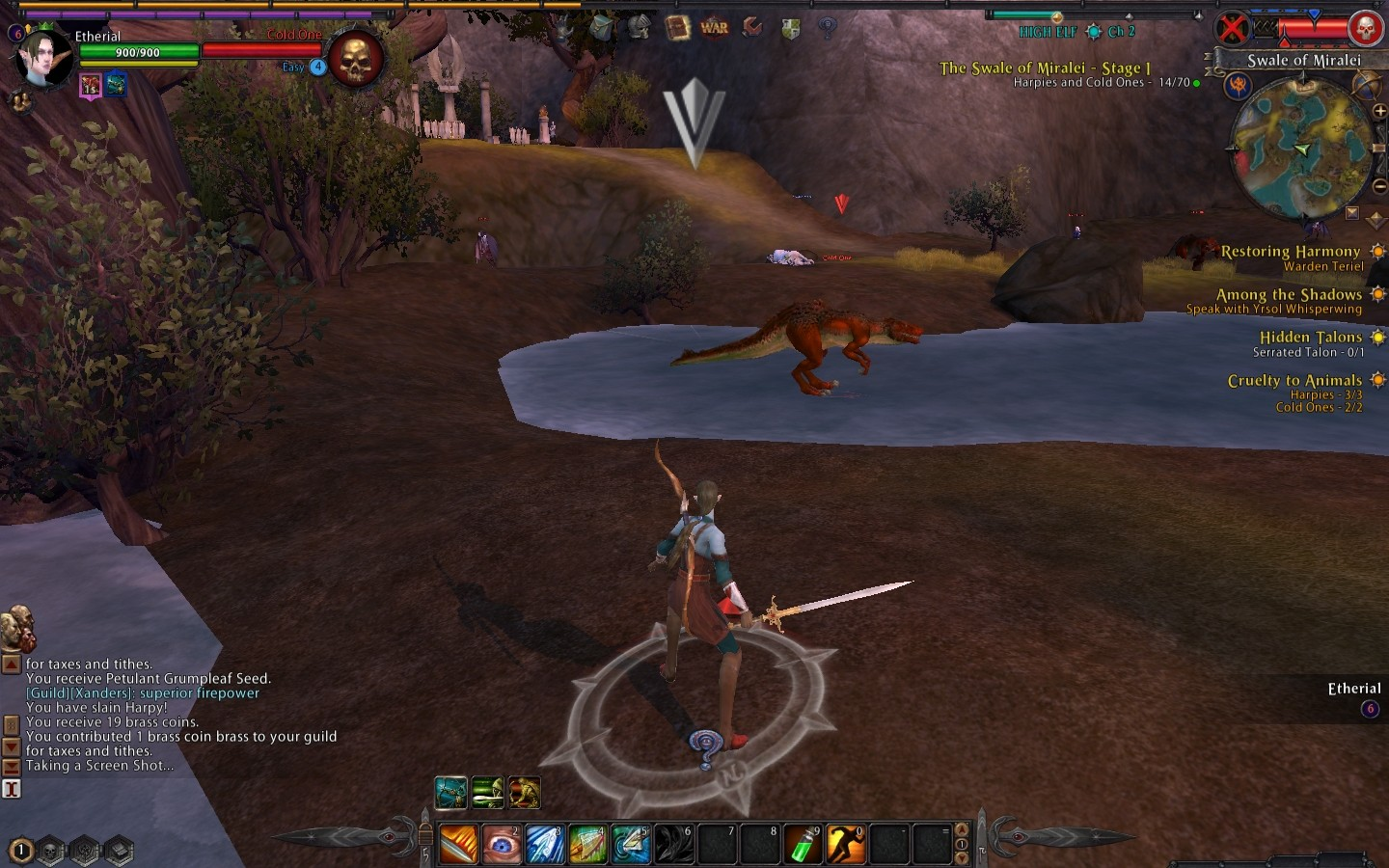 Warhammer Online: Age of Reckoning - No point trying to use terrain to your advantage when your enemies can walk on water!