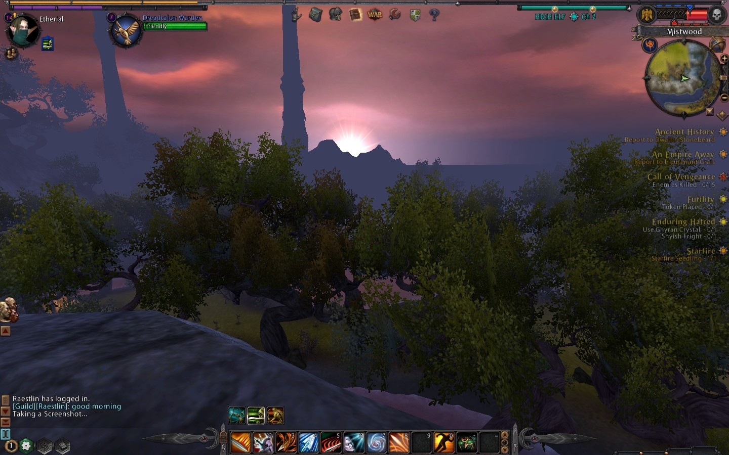 Warhammer Online: Age of Reckoning - A beautiful sunrise over the Blighted Isle