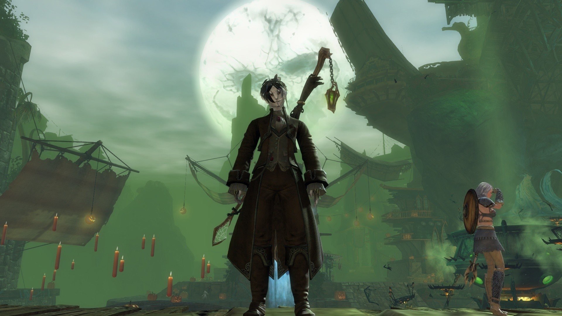 GW2-Halloween exotic Staff !!! Got it from the Mad King Dungeon ^^