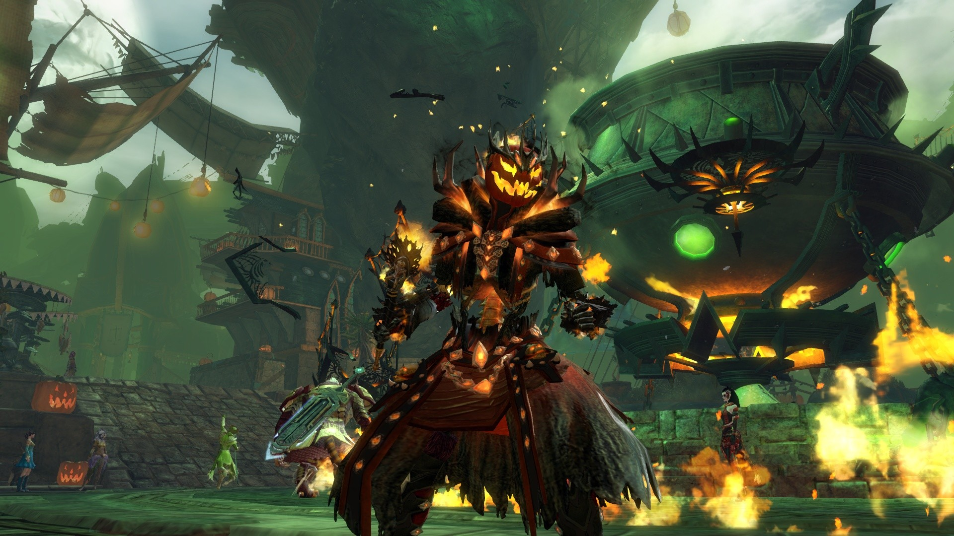 GW2-Mad King costume in flames!!!