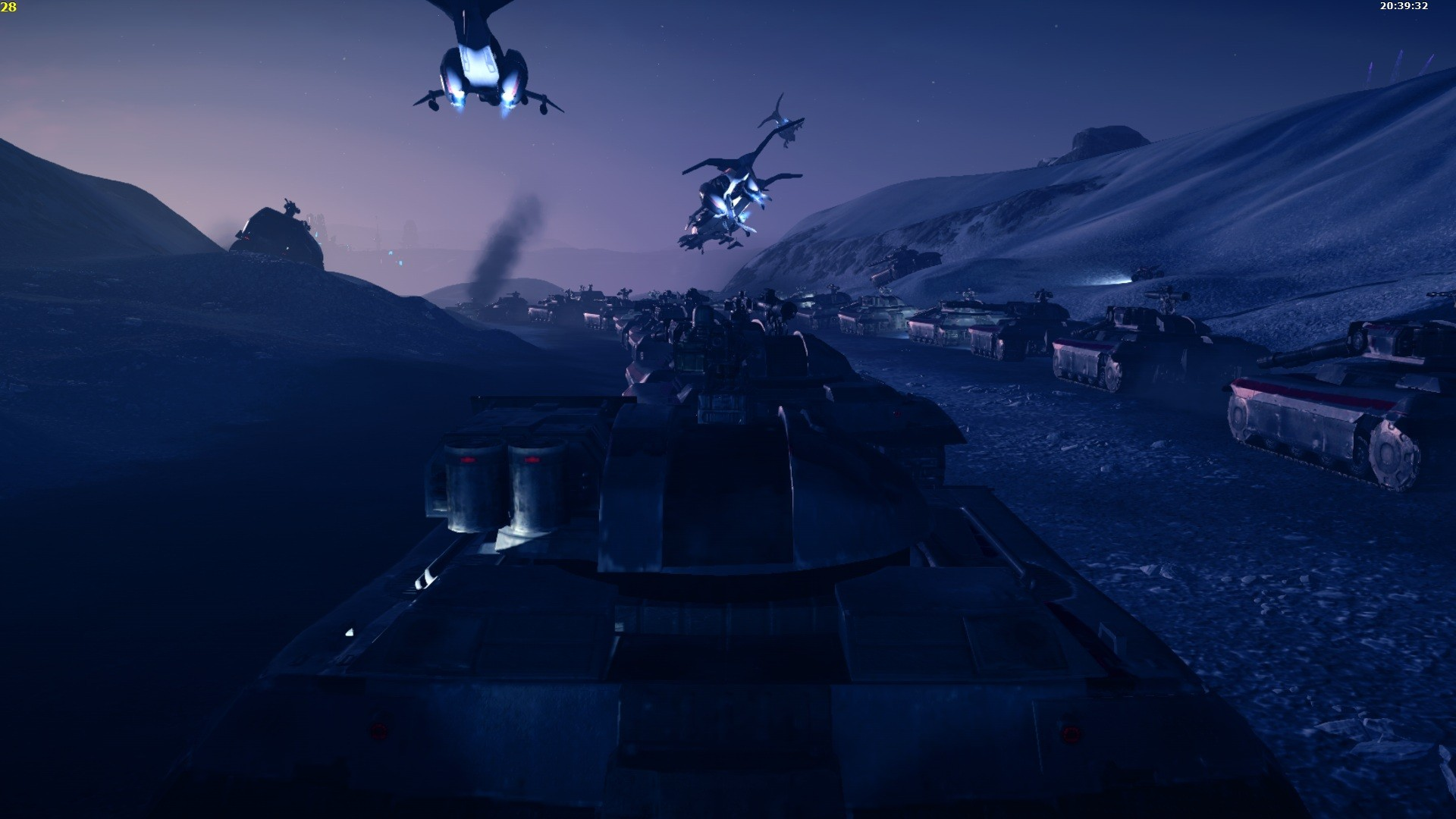 PlanetSide 2 - Blood red till dead tank column.