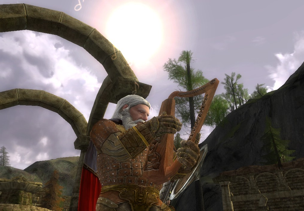 Lord of the Rings Online - minstrel playing harp