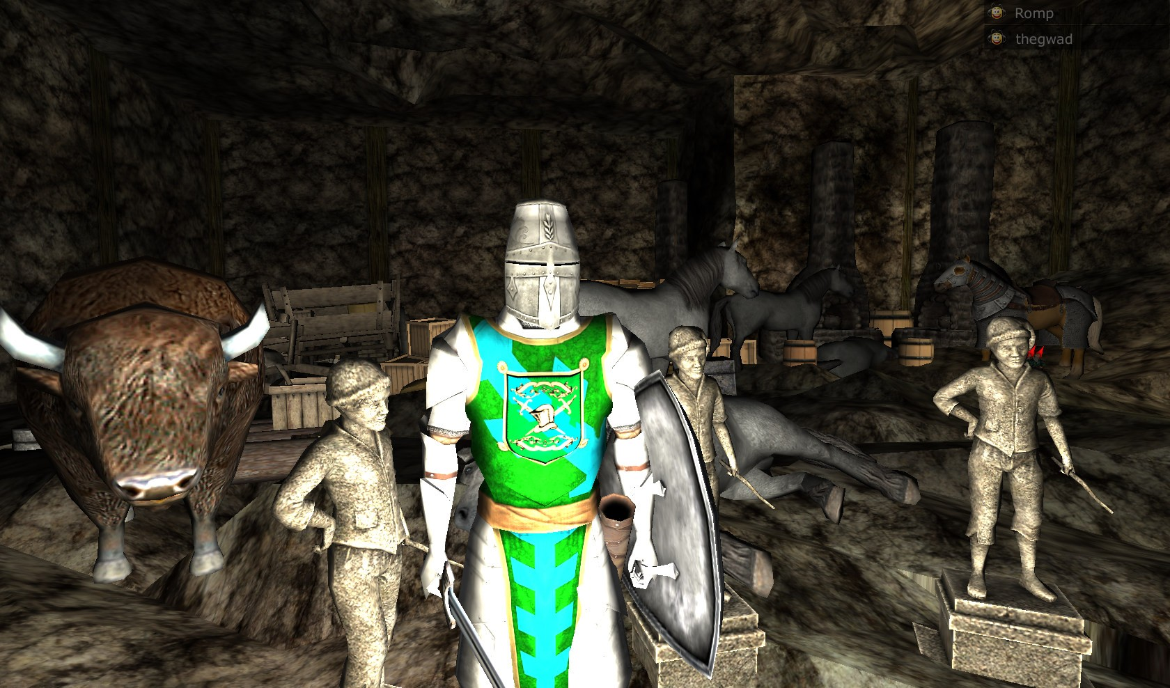 Wurm Online - Cave Life - Preparing to fight