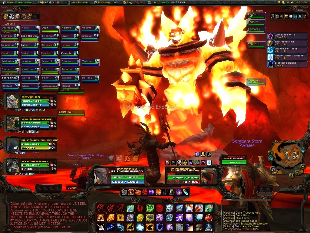 Ragnaros, the coolest raid boss ever