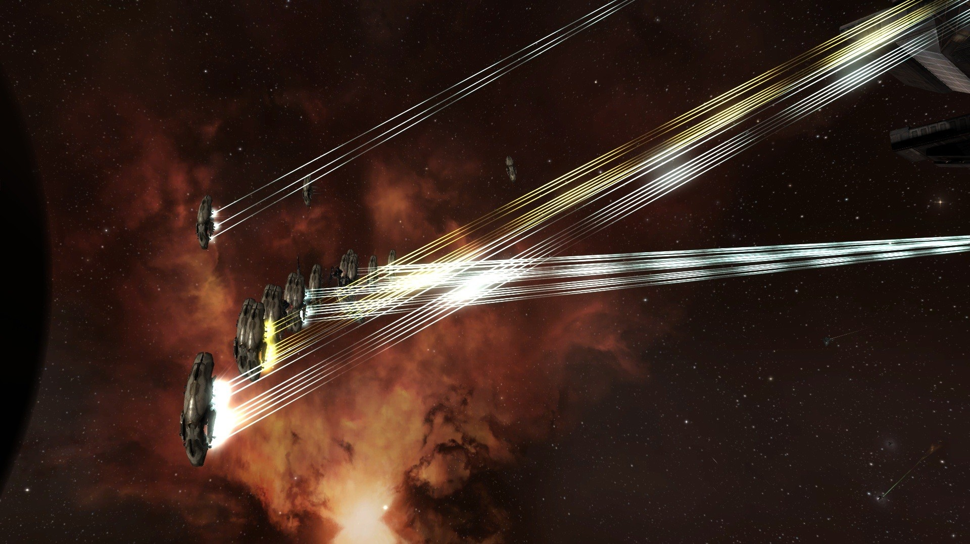 EVE Online - Full broadside boys!