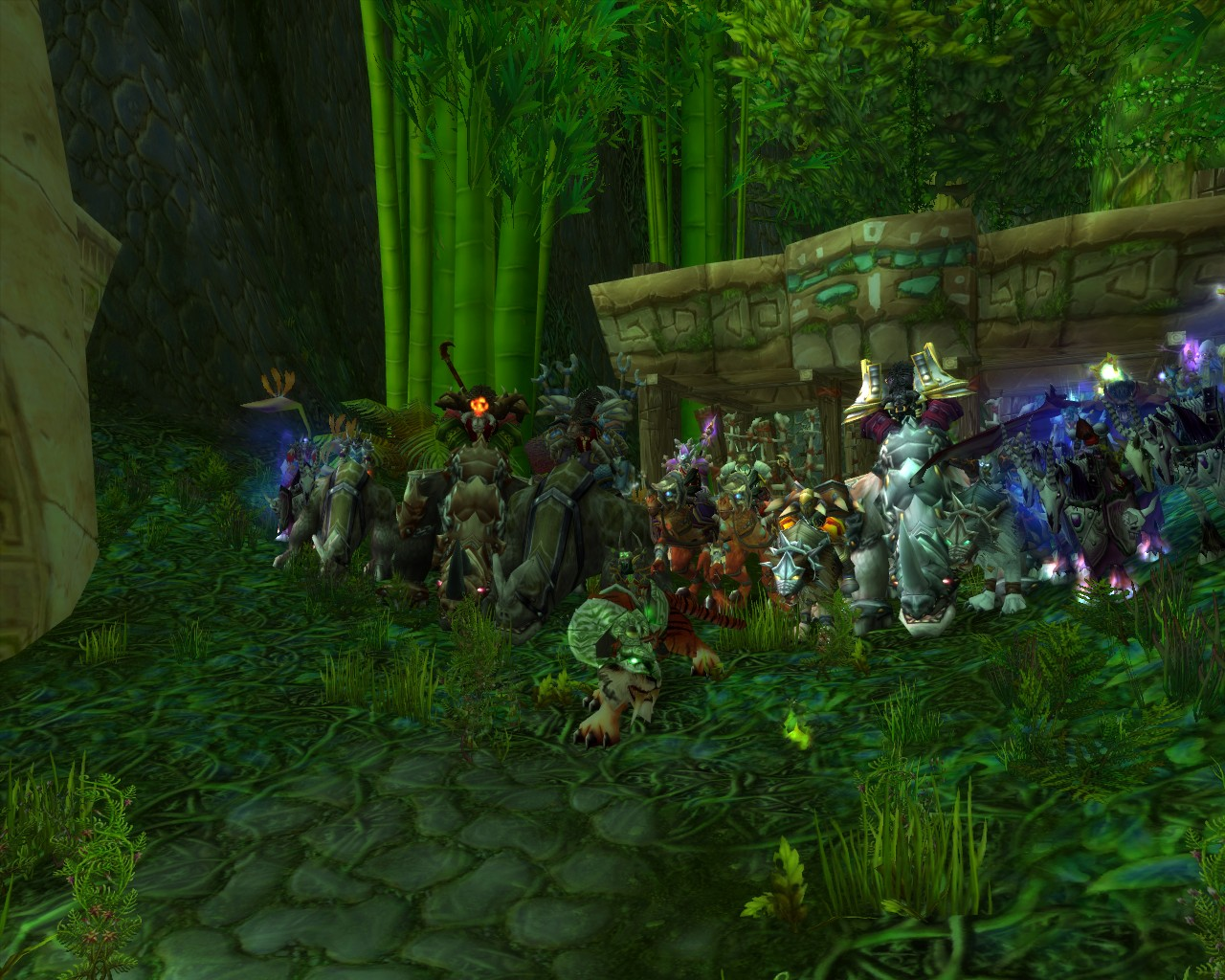 Old screenshot from 2006 when I recieved the Swift Zulian Tiger with my guild from High Priest Thekal in Zul'Gurub!