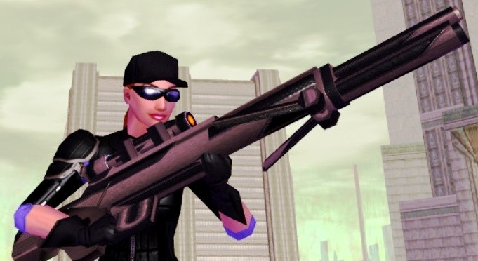 City of Heroes - The Vanguard Assualt Rifle - available to Level 35 AR Blasters for 100 Vanguard Merits. Demonstrated by Pretty Pill.