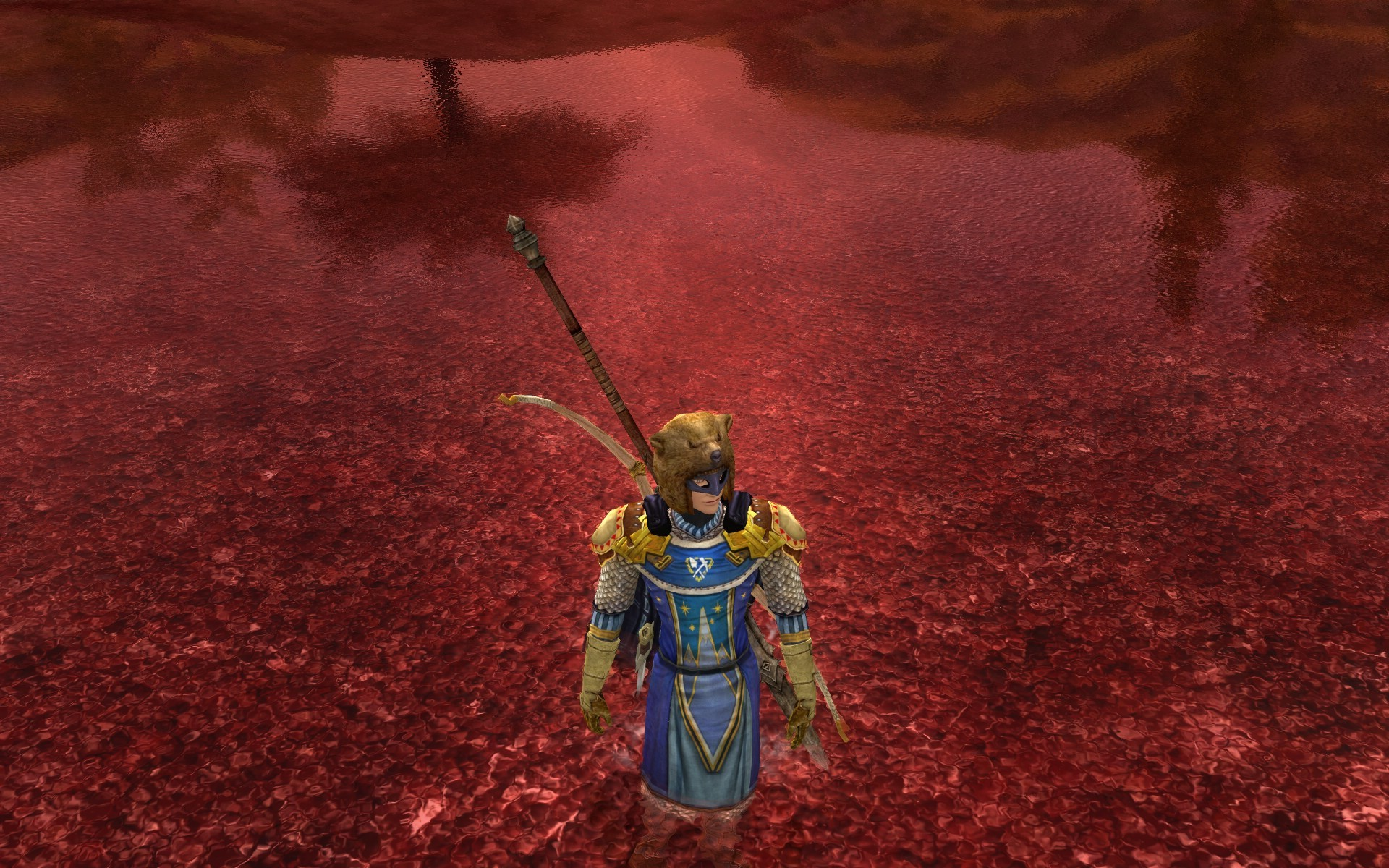 Lord of the Rings Online - who knew blood was reflective?