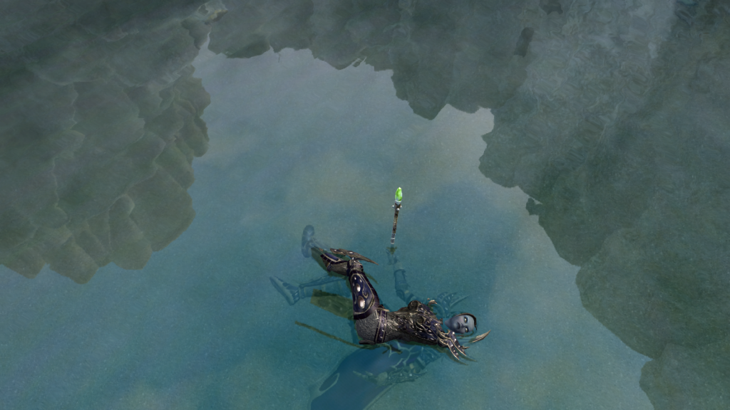 EverQuest II - Death in the water.