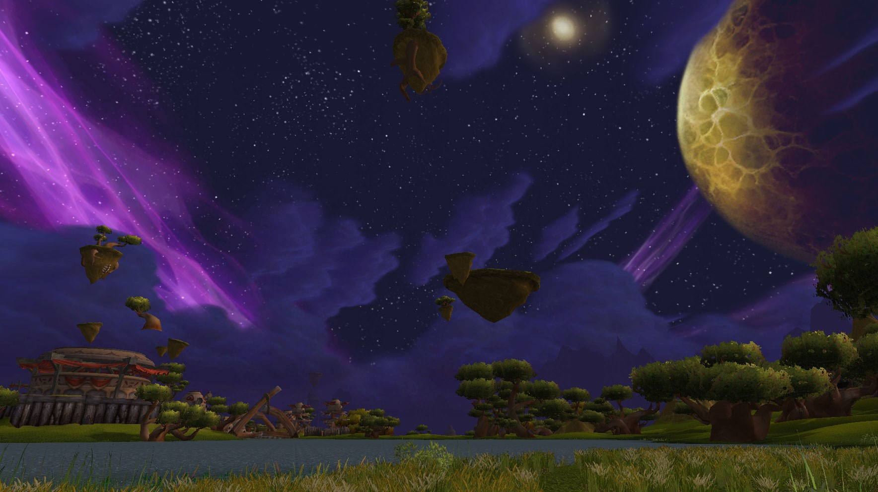 World of Warcraft - Nagrand at Night