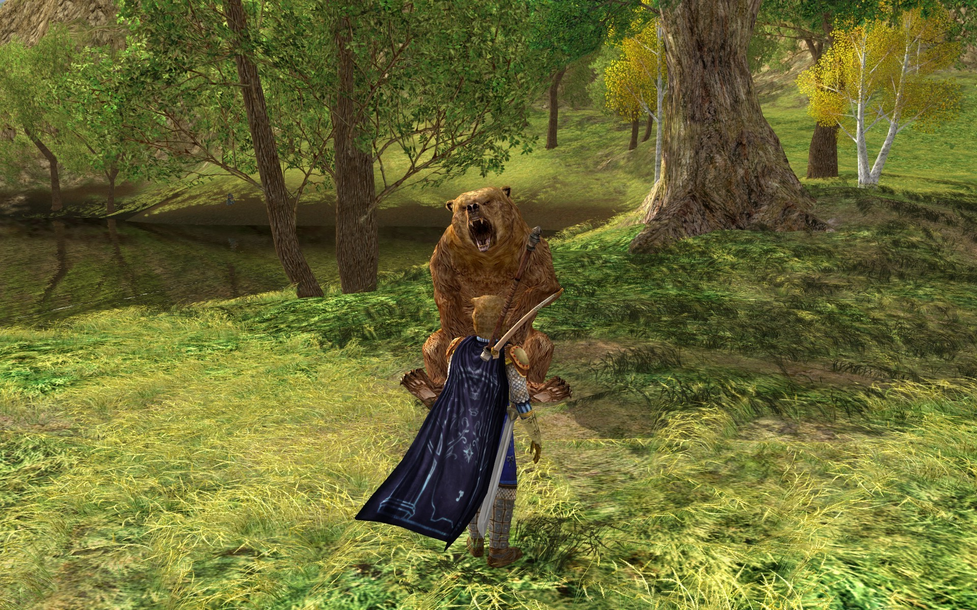 Lord of the Rings Online - about to get mauled