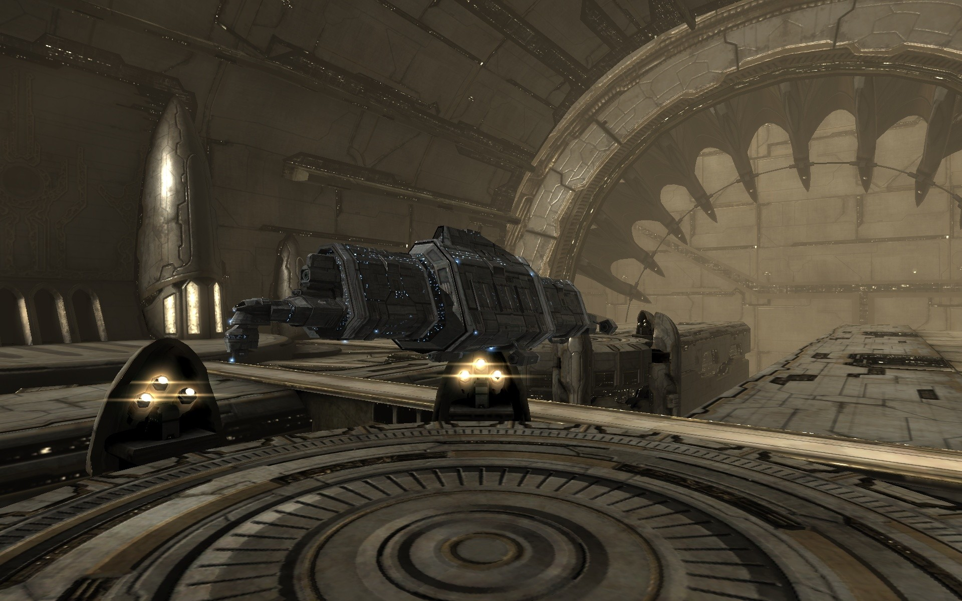 EVE Online - (New premium graphics) My Badger Mk2 in an Amarr space station