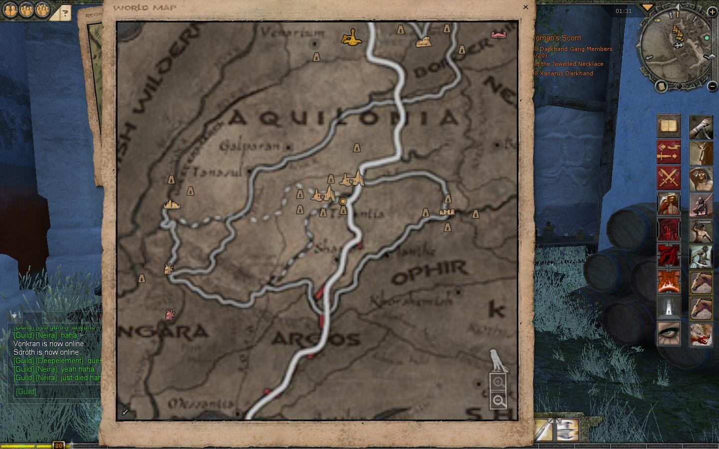 Age of Conan: Unchained - Aquilonia In-Game Dungeons Map Nov 2009