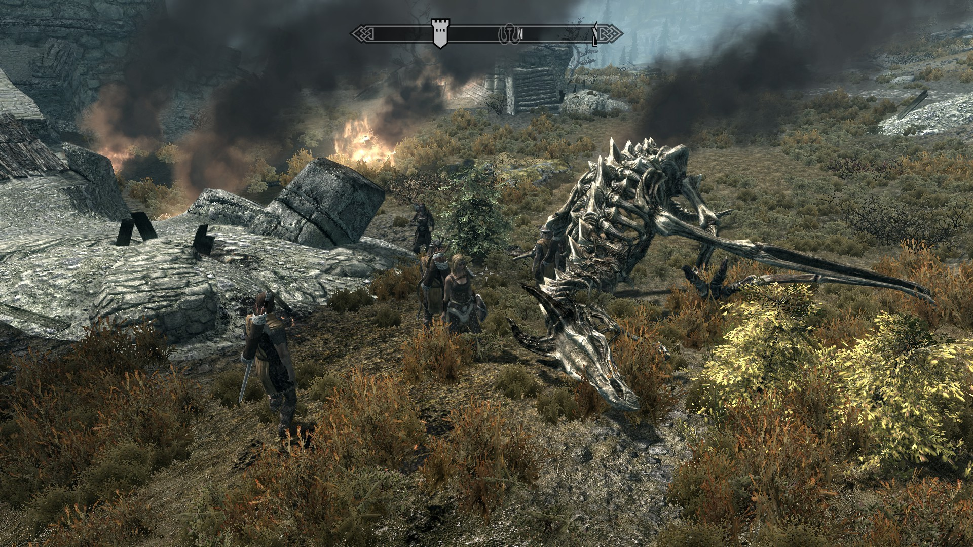 First Dragon killed in Skyrim