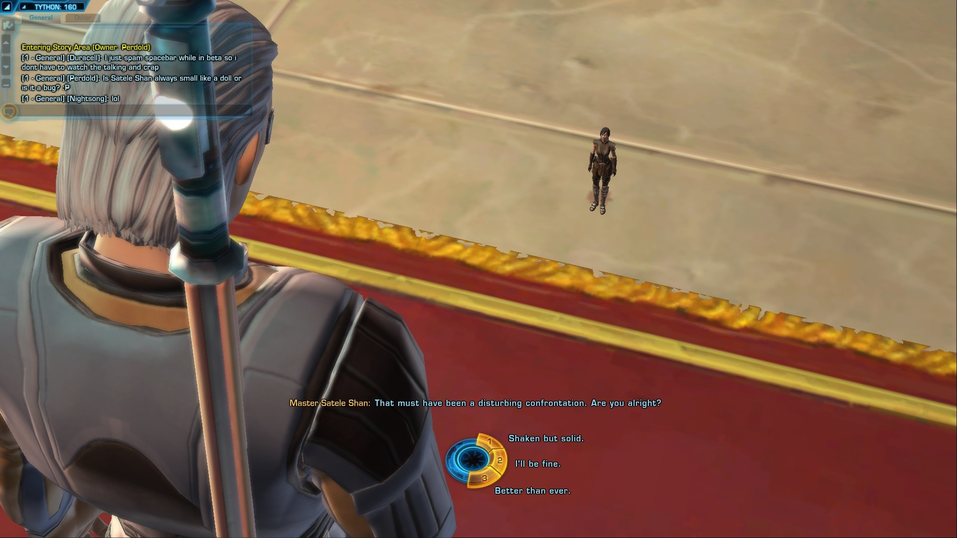 Star Wars: The Old Republic - Funny bug with tiny Satele Shan Doll