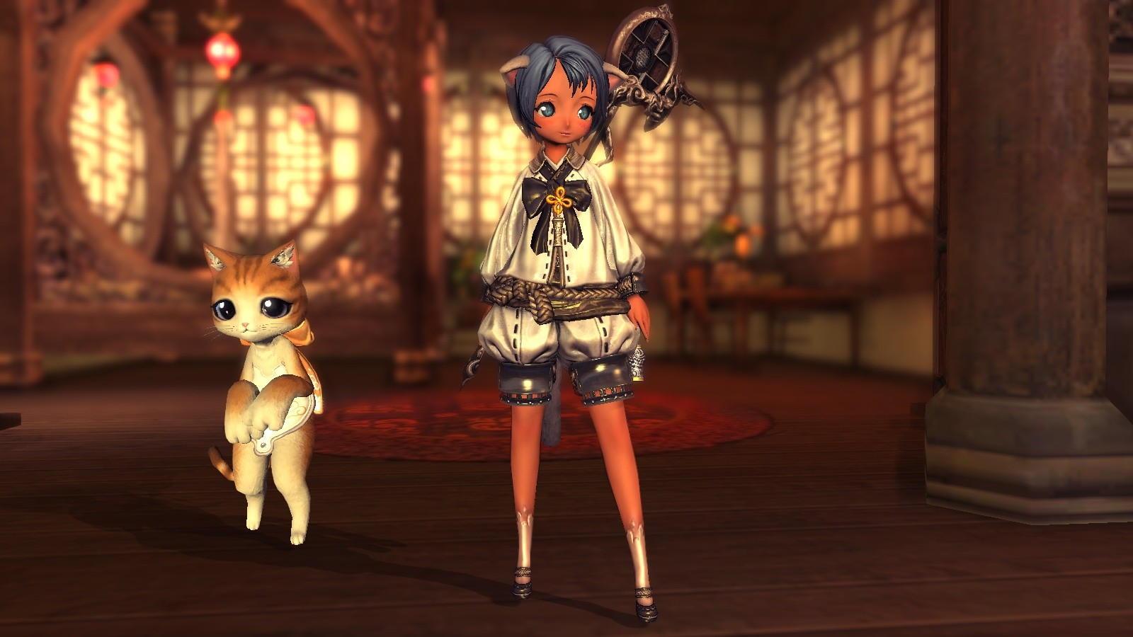 Blade & Soul - My Summoner and her heroic companion, lol.