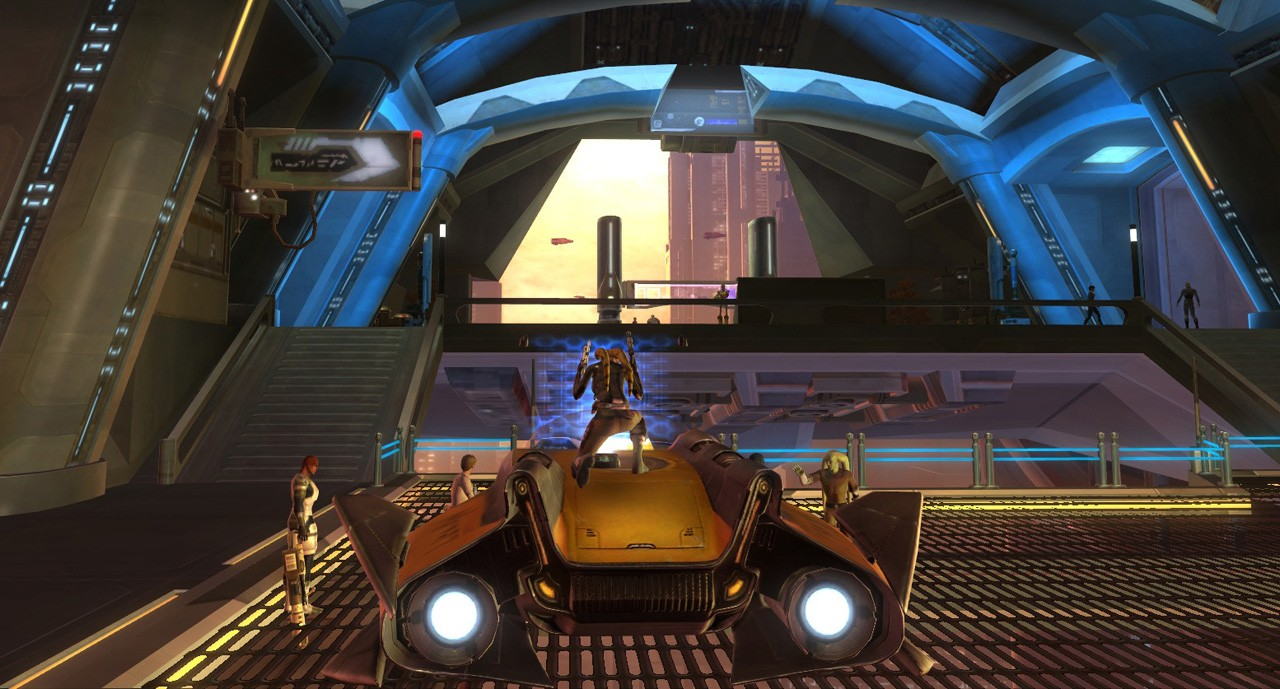 Star Wars: The Old Republic - Follow that cab!