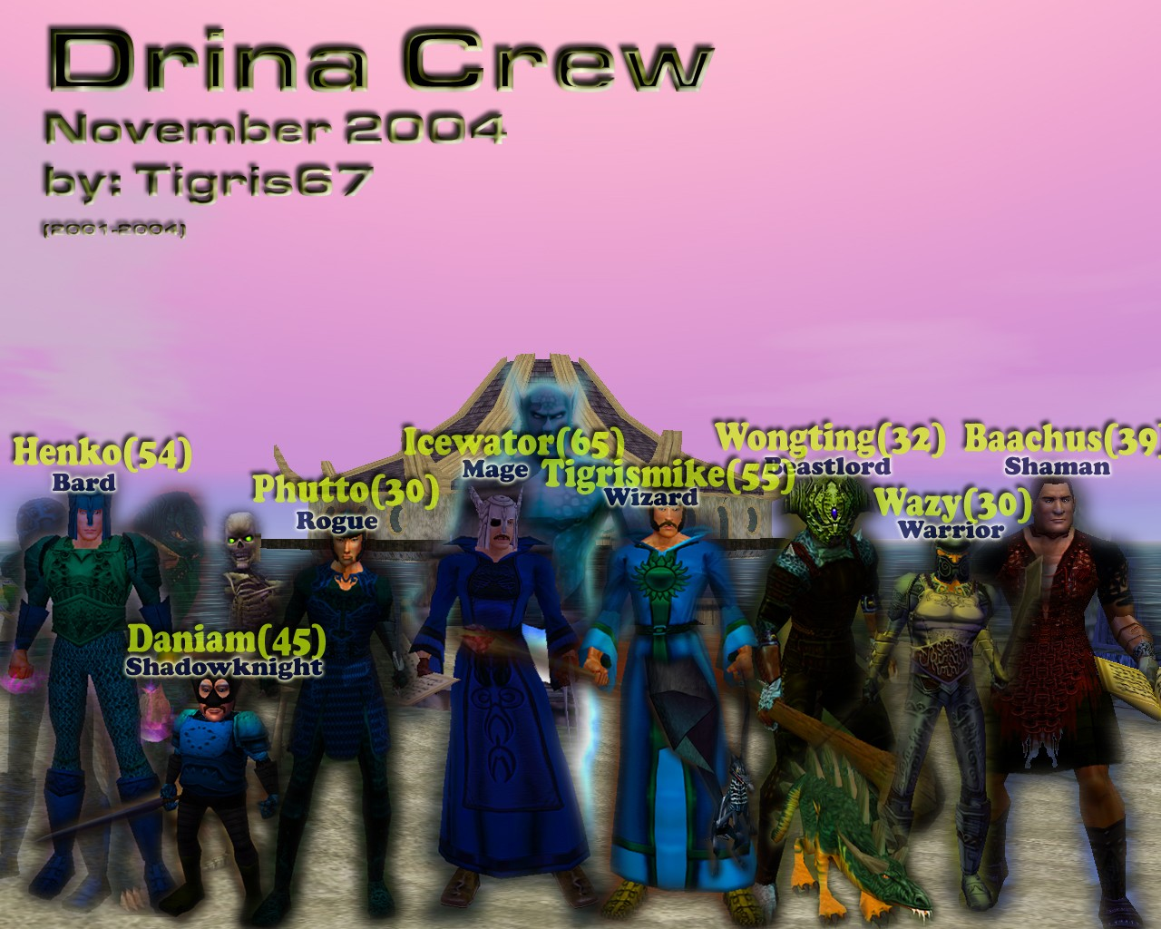 Compilation of My everquest characters from 2004