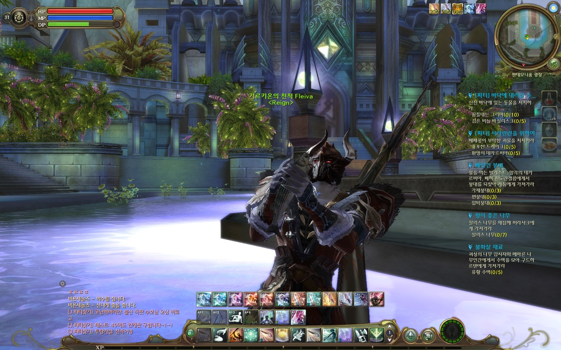 Aion - Idle animations while in water