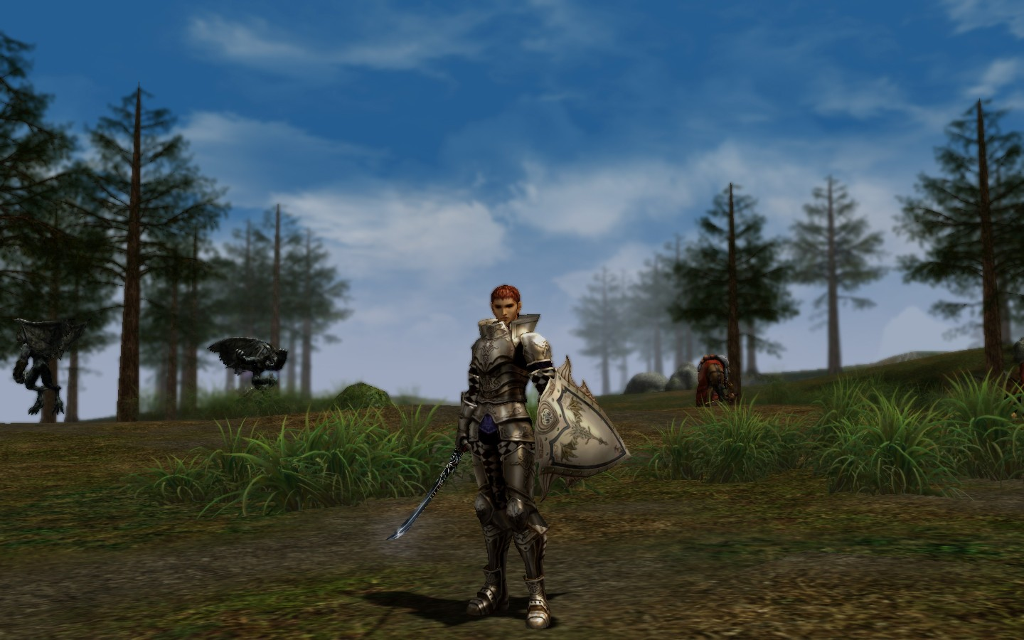 Lineage 2 - Renderer A. No AA ,Gamma = Dark  in game focal effect and post processing