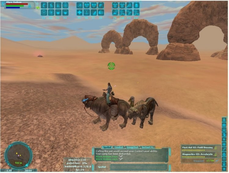 Star Wars Galaxies - Riding my dewback.  :) 2003