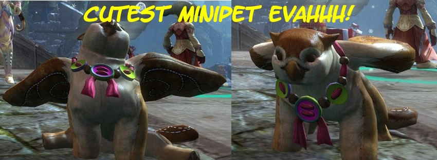 Guild Wars 2 - cutest minipet toy griffon wintersday
