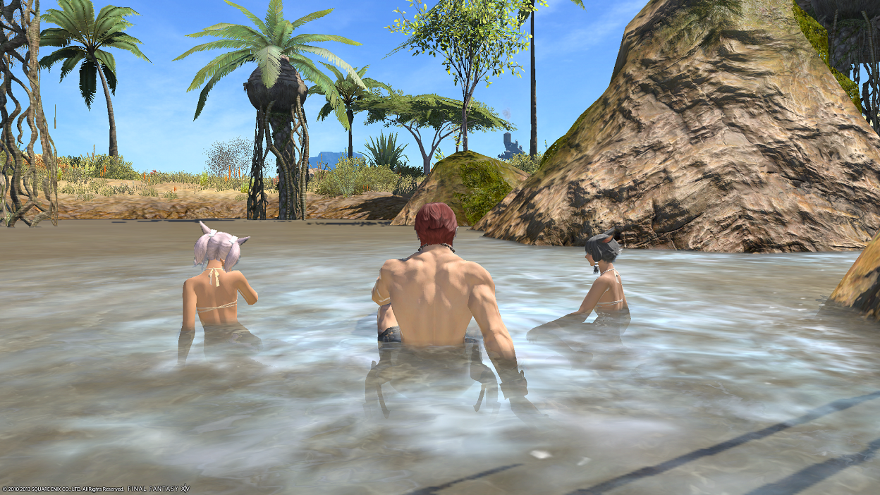 Final Fantasy XIV: Heavensward - Found these 2 beautiful Miqo'te women and decided to stop for a photoshoot... :)