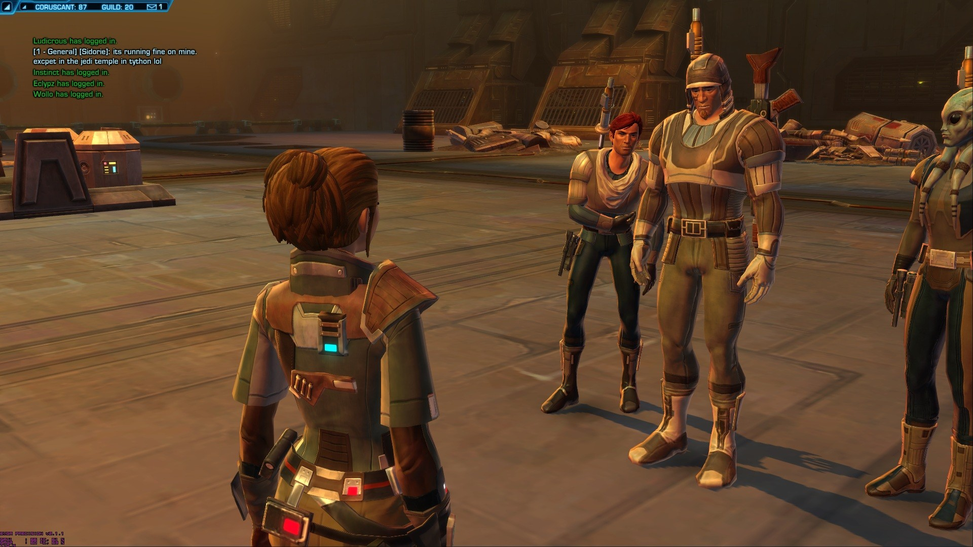 Star Wars: The Old Republic - Gtx 580sc SLI Max Settings (8x Antialiasing through the ini file)