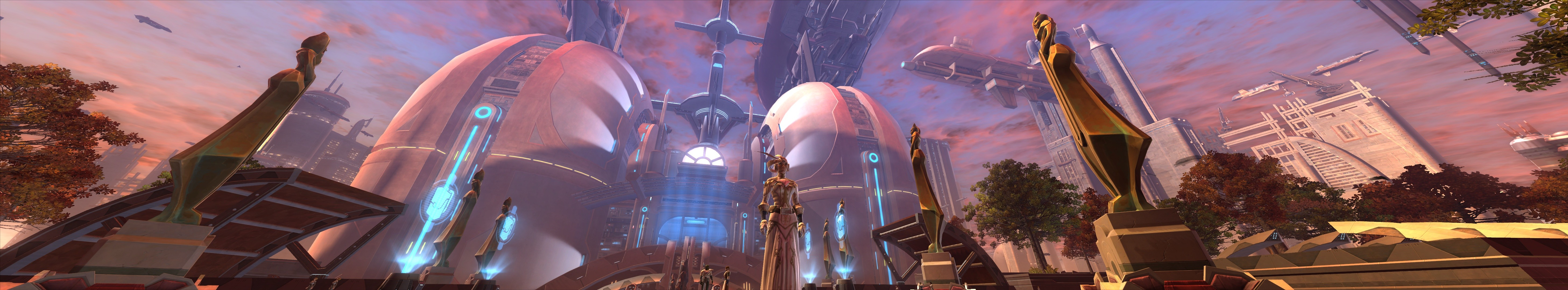 Star Wars: The Old Republic - Coruscant in full social gear