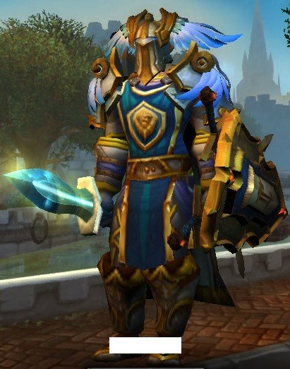 Finished my transmog for my Paladin. Combo of Tier 6 and 16, sword from Ulduar, shield from H: CoS